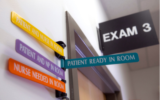 Exam room signs