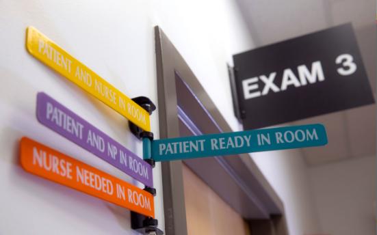 Exam room signs