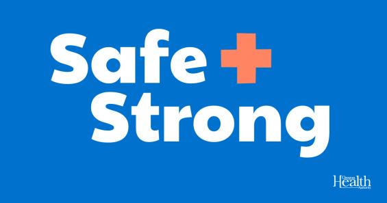 Safe + Strong logo